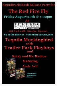"""The Red Fire Fly"" Release Party Friday, August 20th at Bender's"